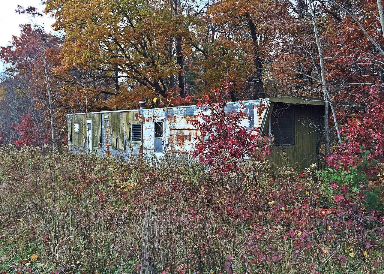 mobilní dům starý