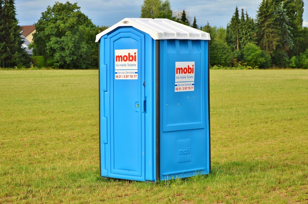 mobilní toaleta modrá